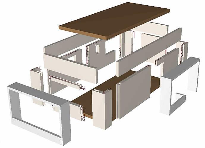 Bloques aislantes climablock muros prefabricados for Cobertizos prefabricados